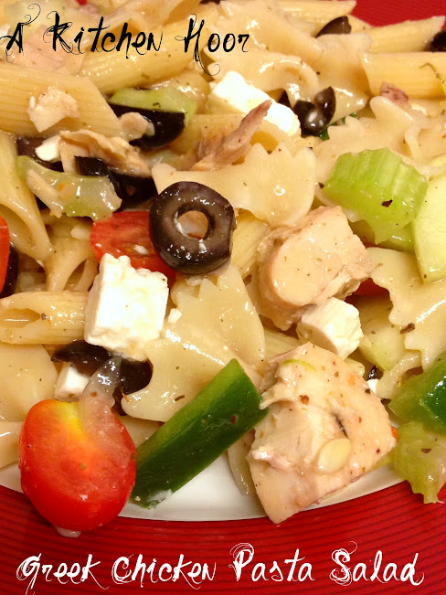 Greek Pasta Salad | A Kitchen Hoor's Adventures