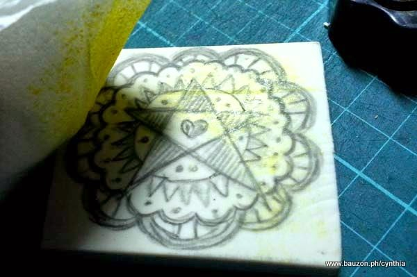 how to carve a rubber eraser stamp