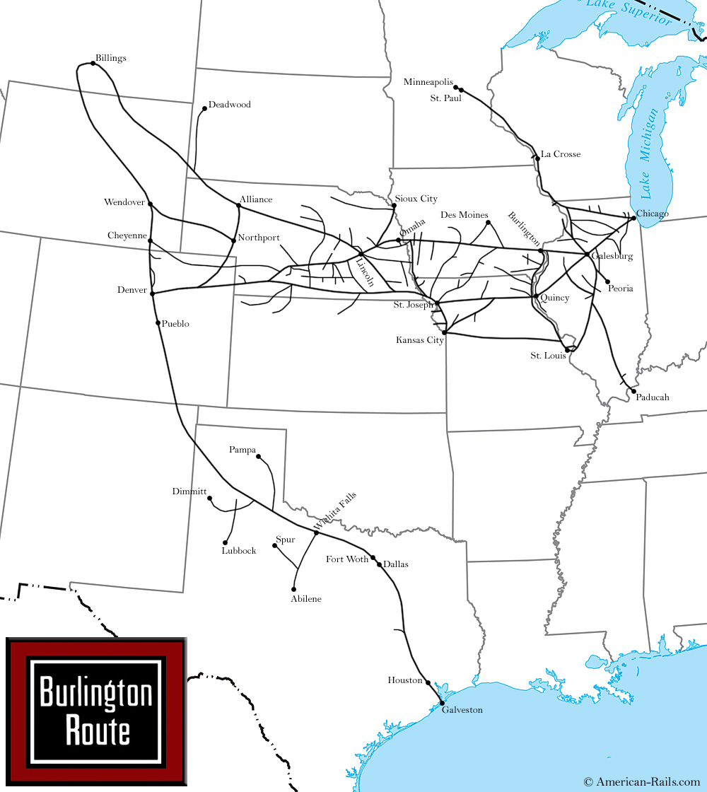 The Chicago Burlington And Quincy Railroad Way Of The