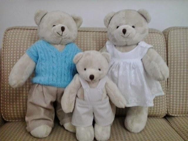 Família urso - Ana Hickmann