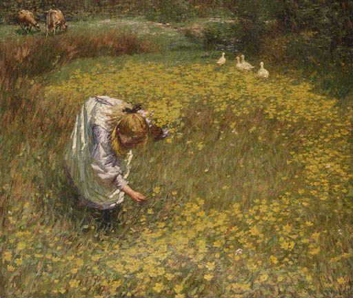 Henry Herbert La Thangue - Marsh marigolds
