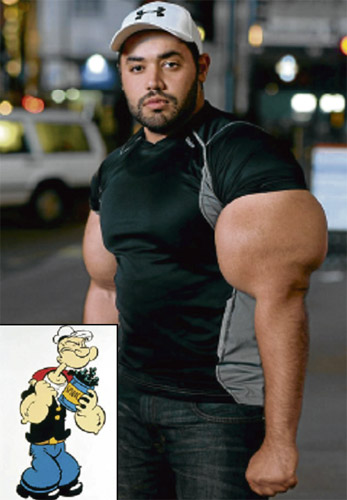 Moustafa bangga jadi 'Popeye'