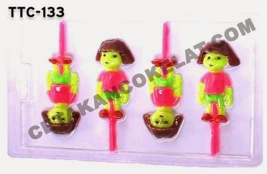 TTC133 Cetakan coklat Dora the explorer
