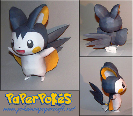 Pokemon Emolga Papercraft