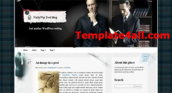 Free Grey Wordpress Business Web2.0 Theme