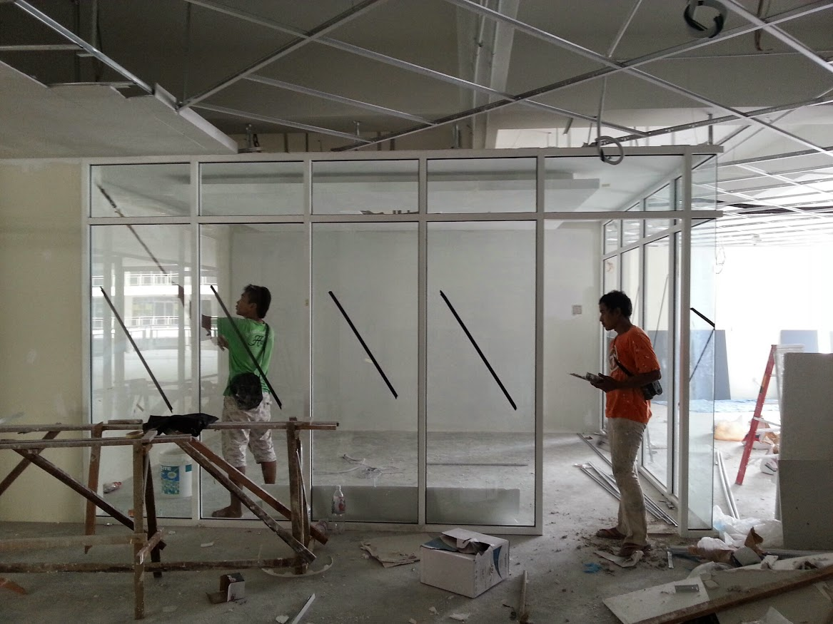 install glass panel