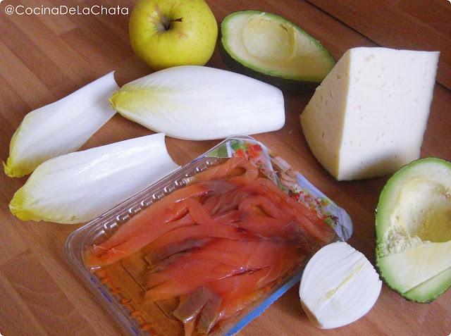 Ingredientes para Ensalada de Endivias