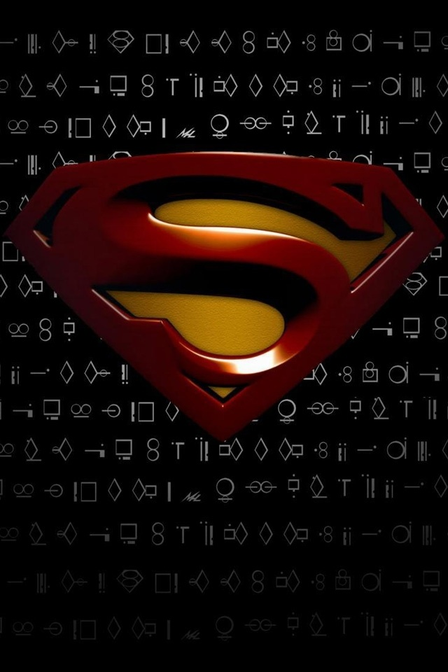 Superman Logo on Black Backgrounds For iPhone4