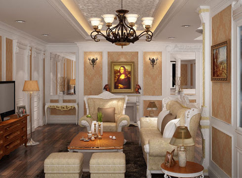 Sử dụng nội thất kiểu Pháp tạo vẻ sang trọng cho ngôi nhà
