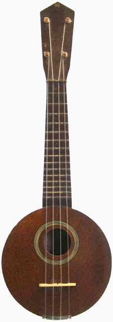 Perlberg & Halpin blue Comet roundbody pocket at Lardy's Ukulele Database