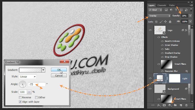 เทคนิคการทำภาพ Logo แนวลายปักเสมือนจริง Emb_logo17