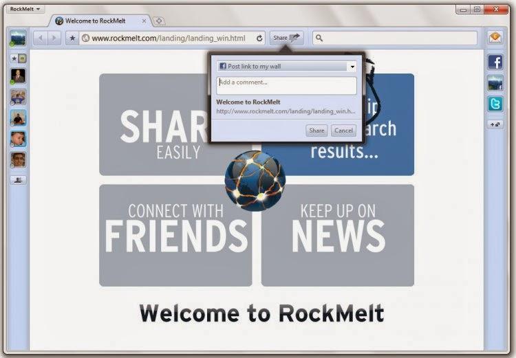 rockmelt web browser