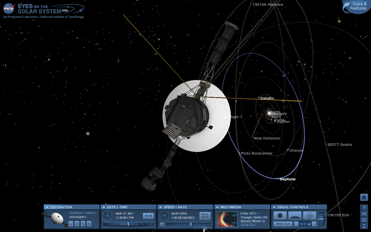 voyager 1 current position - HD1280×800