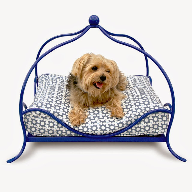 Luxury Metal Frame Lattice Dog Beds Stylish Iron Dog Beds