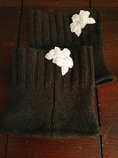 Ulterior Alterations Wool Sweater Refashion to Boot Cuffs