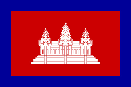 Flag of Cambodia under French Colonial Protectorate