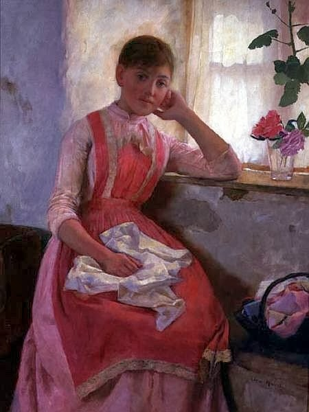 Edwin Harris - Girl In A Pink Apron
