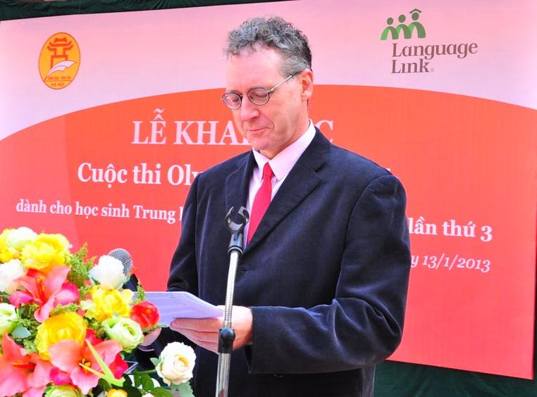 Ông Gavan Iacono – Tổng Giám đốc Language Link phát biểu tại Lễ khai mạc