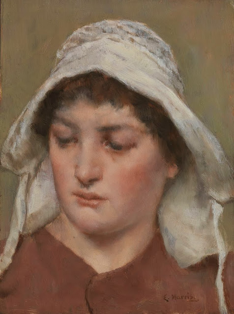 Edwin Harris - Young Woman in a Bonnet.