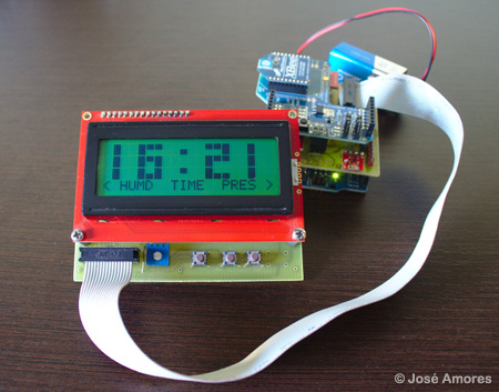 Clock with Weather Station Function