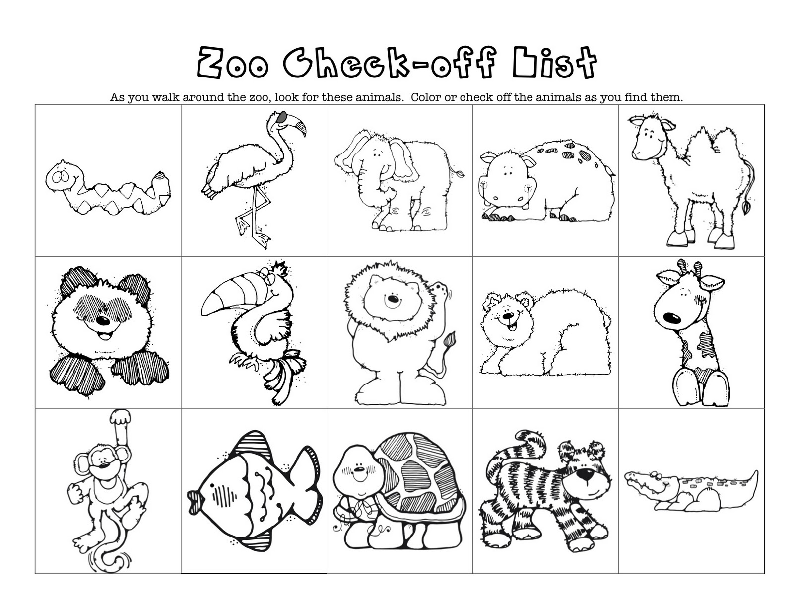 Zoo Animal Worksheets : Z is for zoo mommy school packet oopsey daisy