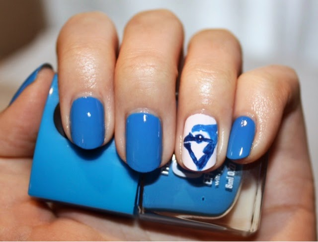 Toronto Blue Jay Nail Art Ft. Nails Inc. Gel Effect in Mercer Street