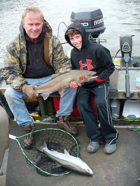 Grand River Steelhead Fishing Double