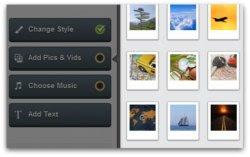 ANIMOTO képekből videó készítése -1. A képek és/vagy videók kiválasztása