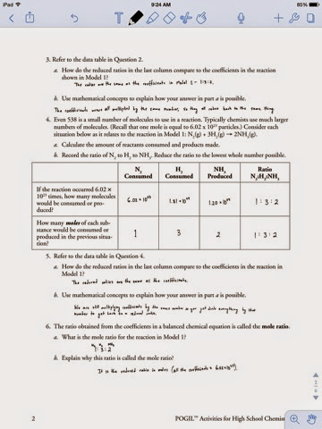 Pictures Mole Ratio Worksheet Answers - Highqualityeducation