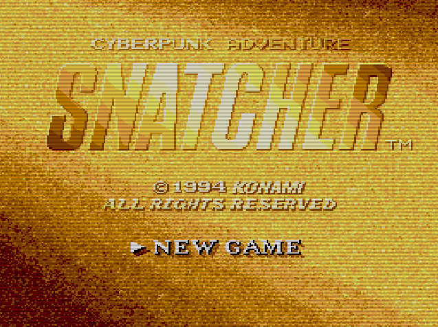 Snatcher Sega CD