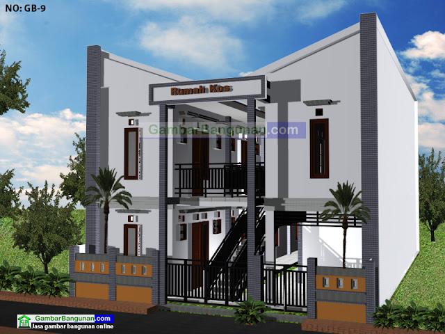 desain rumah kos minimalis Desain rumah kos minimalis 2 lantai di Ambon