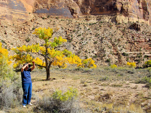 Jean photographing the fall colors