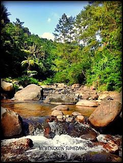 Pemandangan di Saung Cibingbin