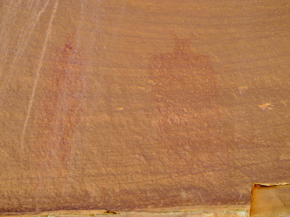 Pictographs across from High Alcove