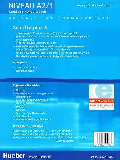 hueber schritte plus 3 kursbuch arbeitsbuch niveau a2 1