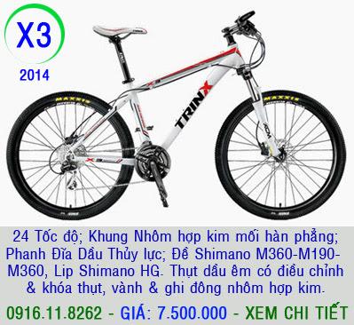 XE ĐẠP THỂ THAO, xe dap the thao, xe dap trinx, xe đạp thể thao chính hãng, xe dap asama,  x3 2014