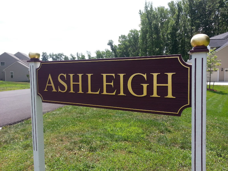 sandblasted signs - ashleigh