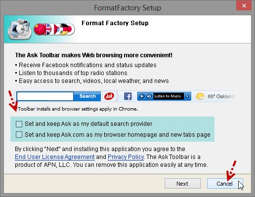 ติดตั้ง Format Factory แบบไม่มีของแถมพ่วงท้ายมาให้รำคาญใจ Ffset05