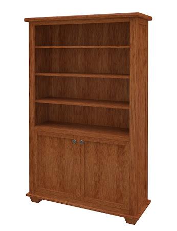 Monrovia Wooden Door Bookshelf in Washington Quarter Sawn Oak