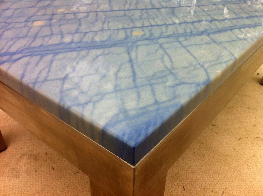 Couchtisch Wohnzimmertisch Naturstein Platte Azul de
