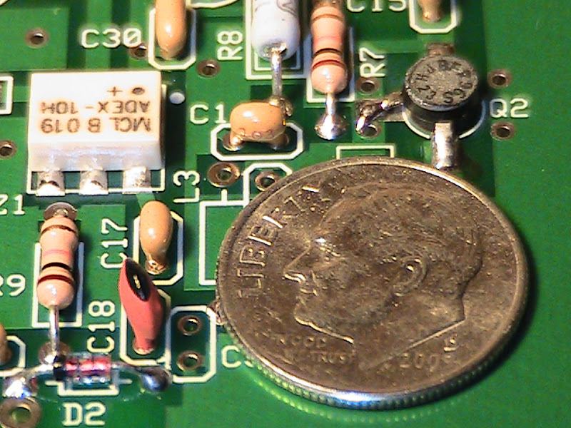 Close-up view of lower right quadrant of RF