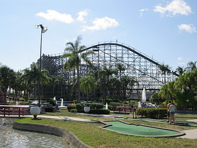 Roller coaster Boomers Dania Beach Florida