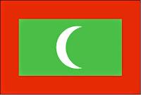 εθνική σημαία Μαλδίβων, national flag of Maldives.