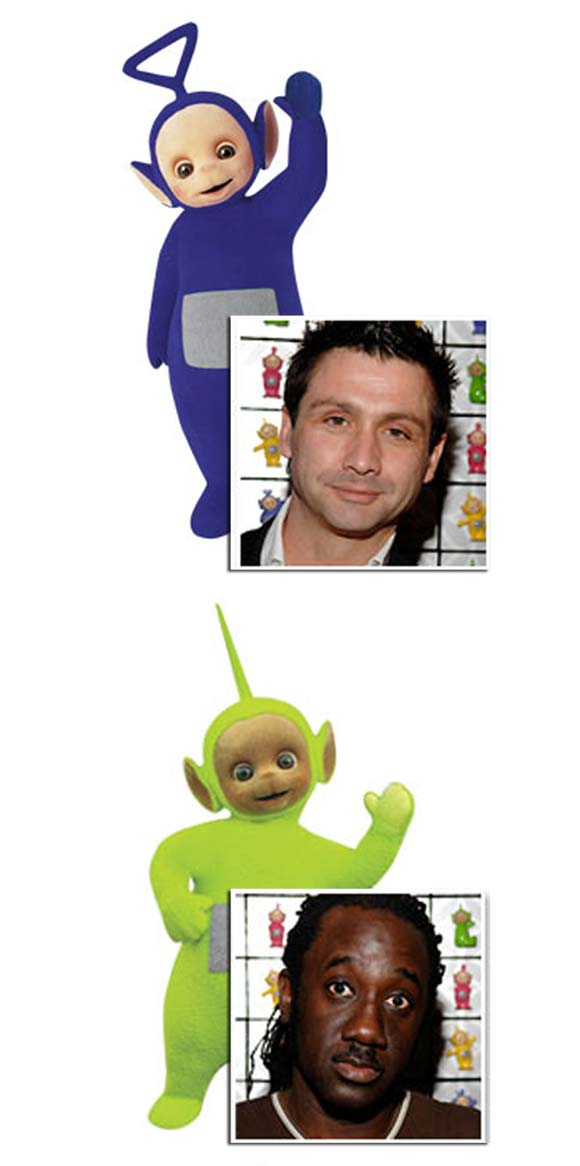 Mari kita lihat rupa sebenar pelakon di sebalik kostum comel Tinky