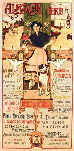 Cartel Feria Albacete 1909