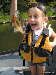 7 year old fly fishing !!