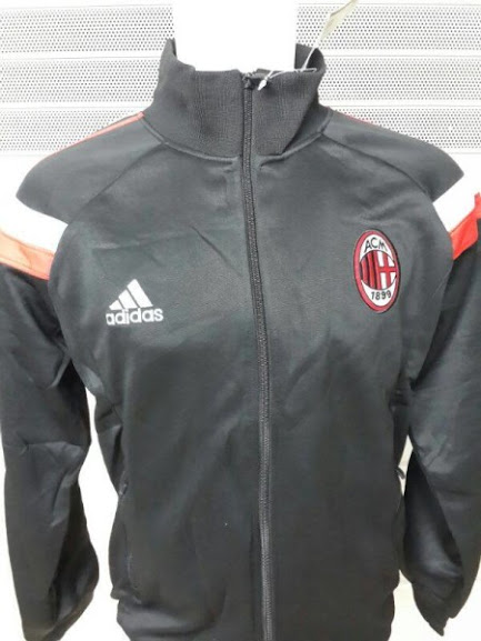 Jual Jaket AC Milan Track Top Warna Hitam