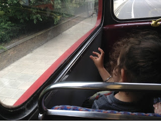 toddler on routemaster bus top deck