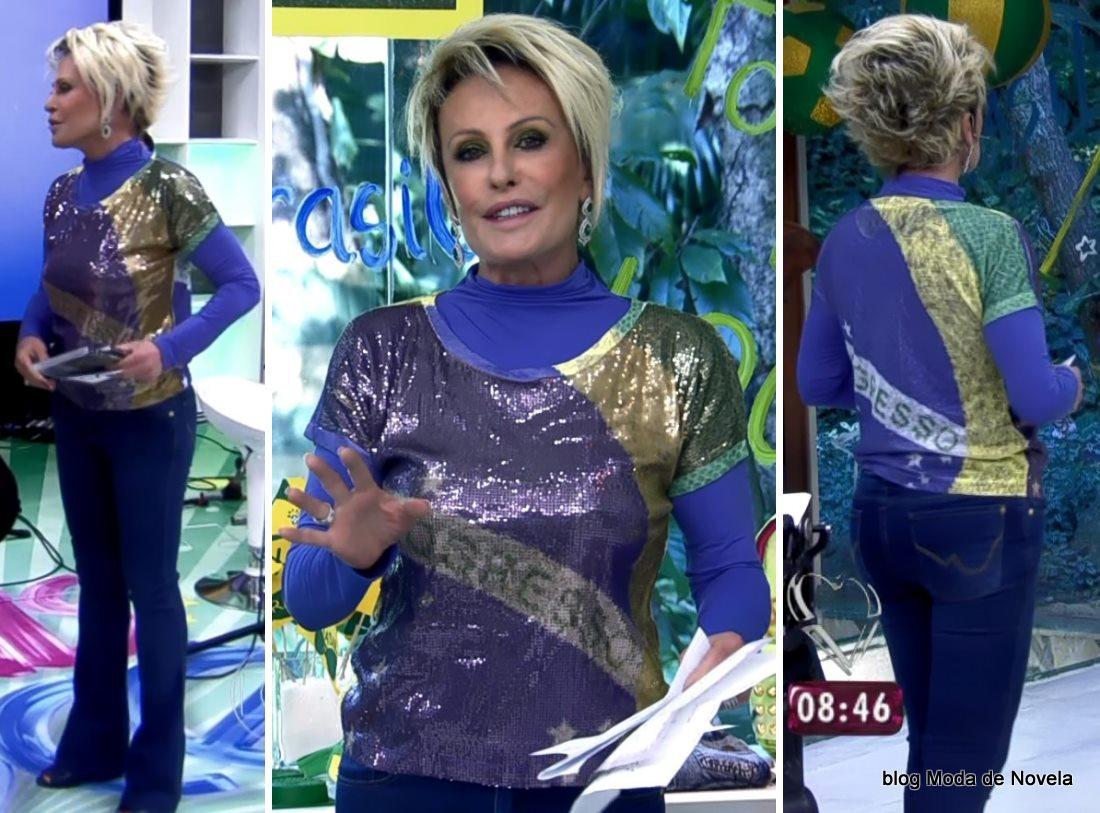 moda do programa Mais Você - look da Ana Maria Braga dia 17 de junho