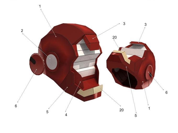 Iron Man Mark 3000 ~ Iron man mark vii huyền thoại papercraft phần pig up